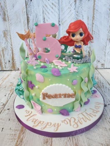 Mermaid Ariel Themed Cake