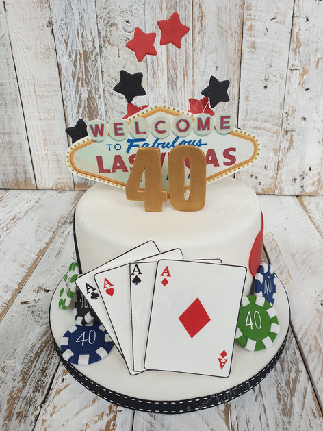 Vegas Themed Cake