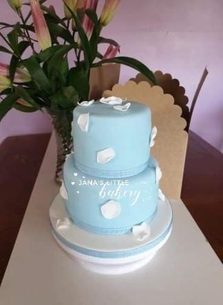 Christening Vanilla Cake