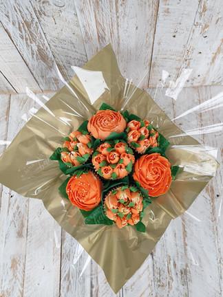 Orange Cupcakes Bouquet