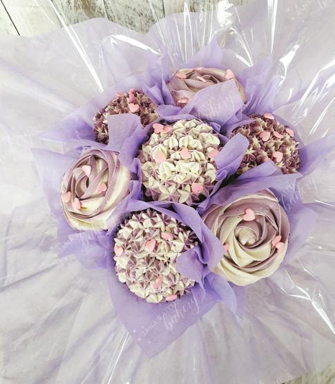 Purple Cupcake Bouquet