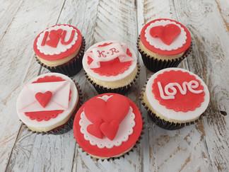 Classic Valentine Cupcakes