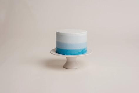 Blue Ombre Dairy Free Vanilla Cake