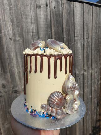 Chocolate Shell Mini Cake