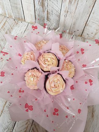 Pink Cupcake Bouquet