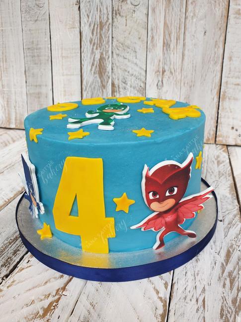 PJ's Masks Themed Cake