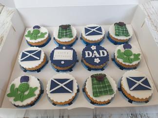 Scottish Themed Vanilla Cupcakes