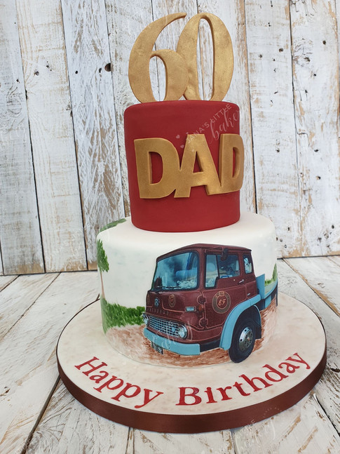 Daddy's Favourite Lorry on a Cake