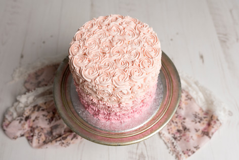 Victoria Sponge with Ombre Rose Style Buttercream