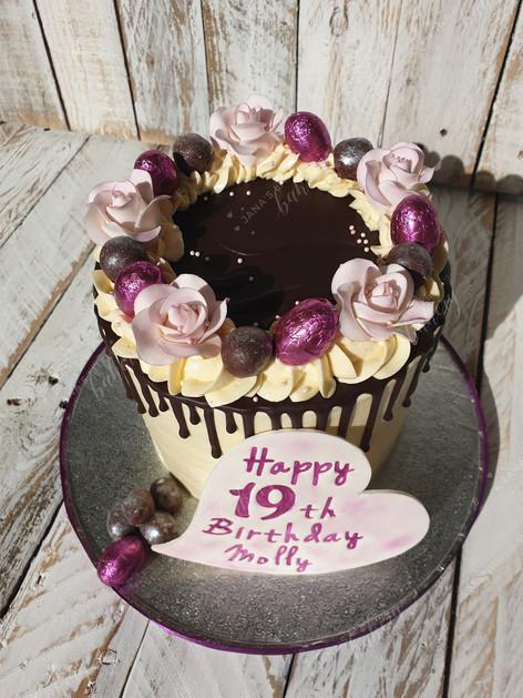 Purple Vegan Birthday Cake