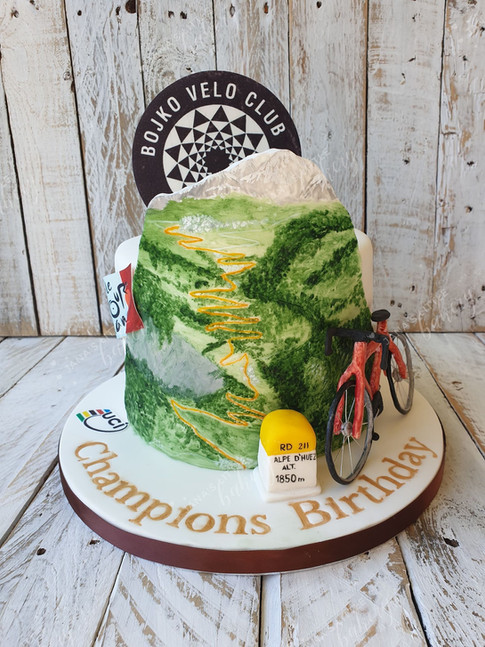 Cycling Themed Cake