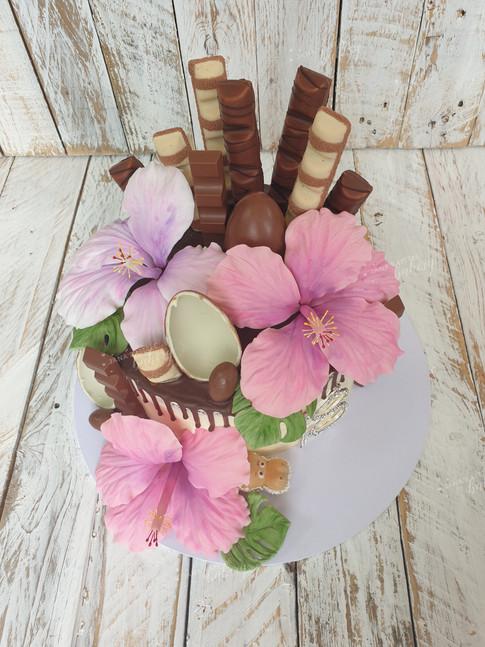 Hawaiian Chocolate and Hazelnut Drip Cake Topped With Favourite Chocolates