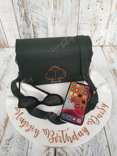 Handbag, Phone and Sunglasses