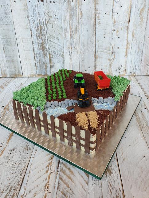Farmers Themed Cake