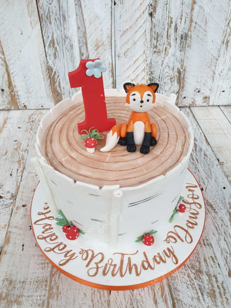 Foxy Themed Cake