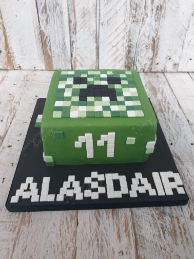 Minecraft Themed Cake