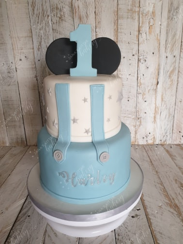 1st Birthday Cake Inspired by Mickey Mousse