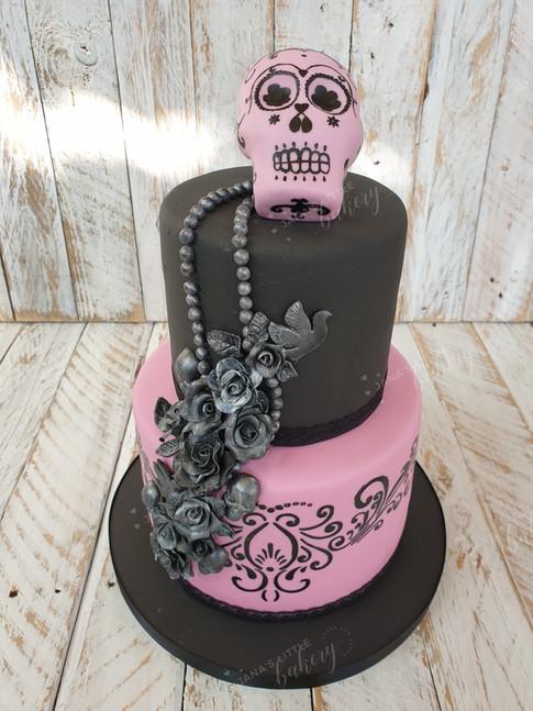Sugar Skull Themed Cake