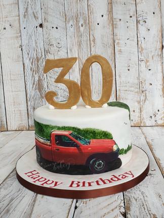 Man Favourite Van 30th Birthday Cake
