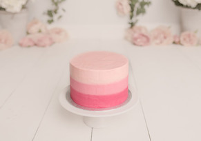 Pink Ombre Vanilla Cake