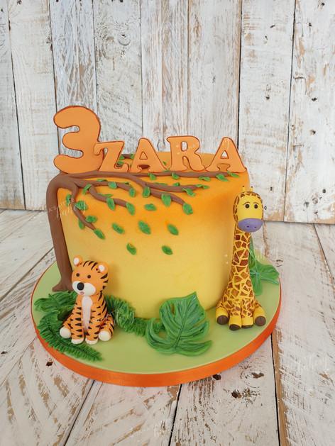 Sunset Jungle Cake