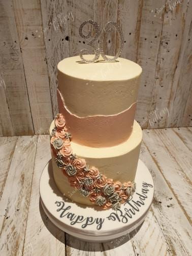 30th Birthday Cake, Lemon and Vanilla Sponge