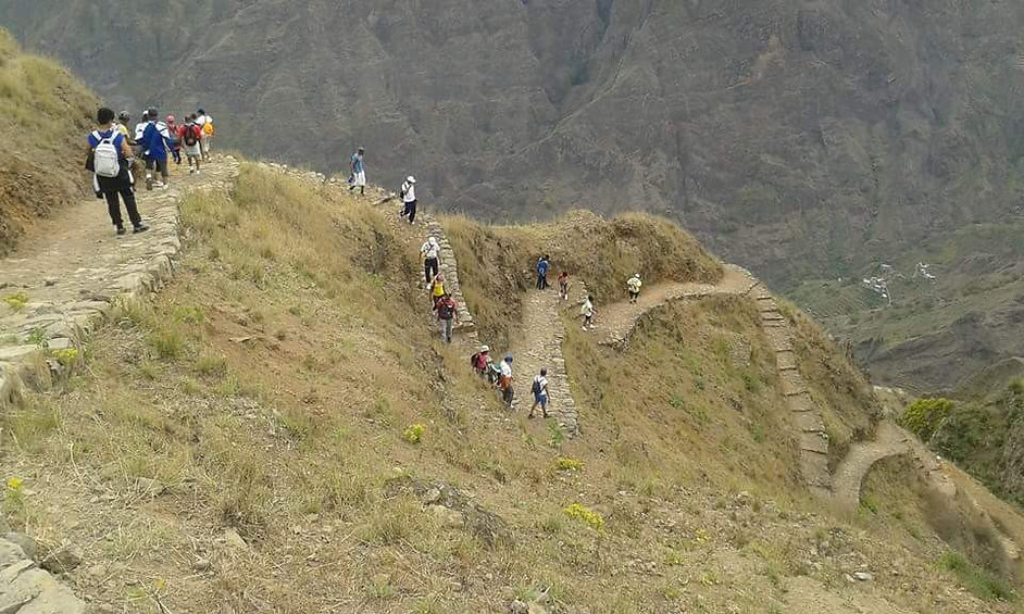 walking santo antao island in safety