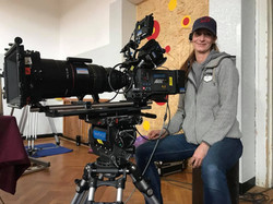 camera operator on Czech Television