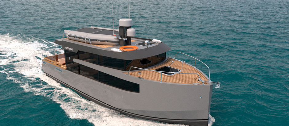 News: A new project of a 31-foot motor yacht