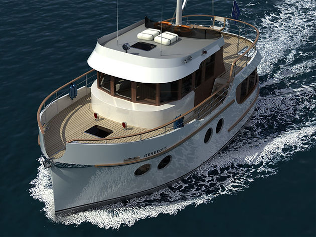 We started work on a project of a 42 ft  steel yacht