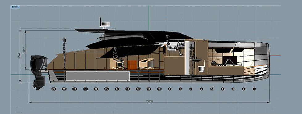Aluminium motor yacht Sea Wolf 45ft.
