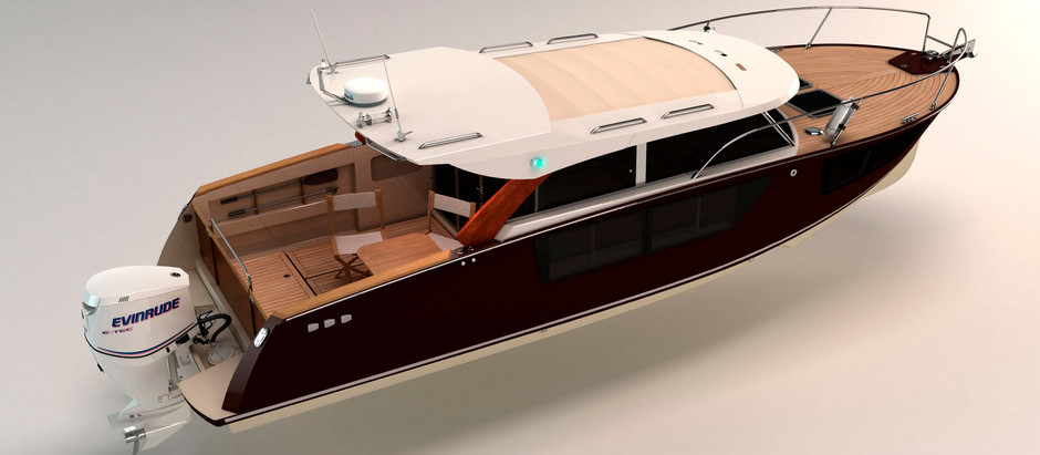 News: We started work on a project of a 31ft. aluminum yacht in a classic style
