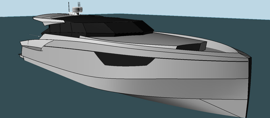 News: A new project of a 50-foot yacht