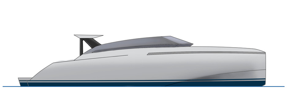 News: A new project for a 35-foot yacht