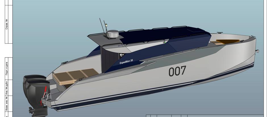 Новость: Разработка новой алюминиевой яхты Expedition-35