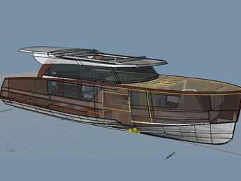 We are preparing for production a new aluminum motor yacht