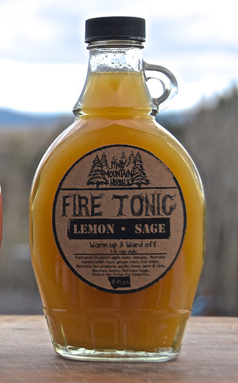 Lemon Sage Fire Tonic 8oz