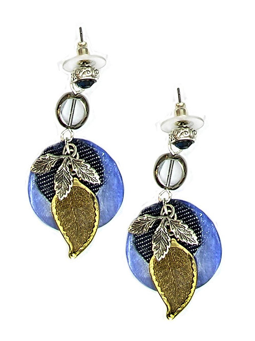 jeans Leaf Earrings