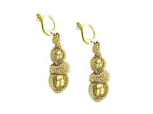 Pearls & Mesh Earrings