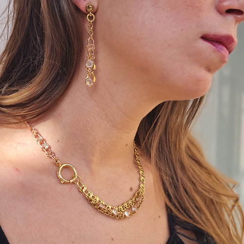 Golden Toned Layered Necklace