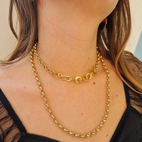 Golden Chunky Chain Wrapped Necklace or Bracelet