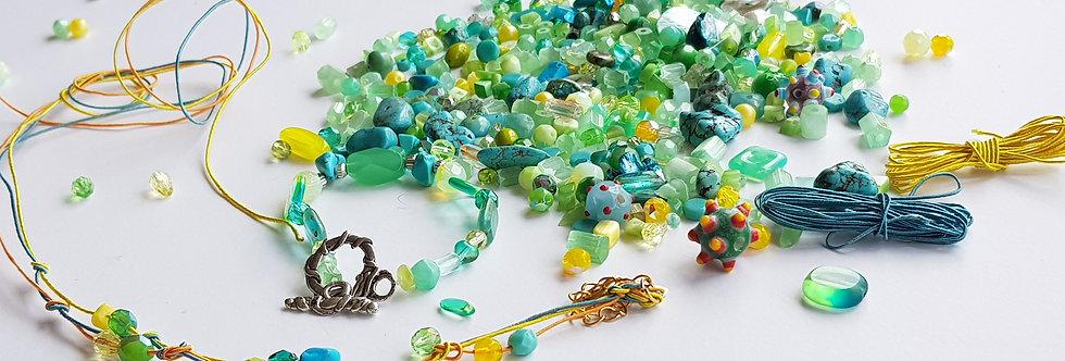ערכה להכנת תכשיטים בגווני - ירוק ביום אביבי