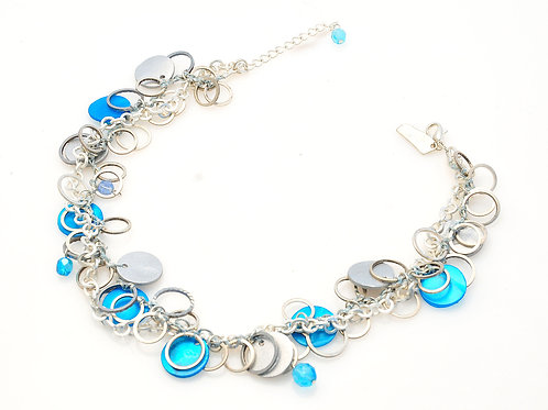 Blue Coin Necklace