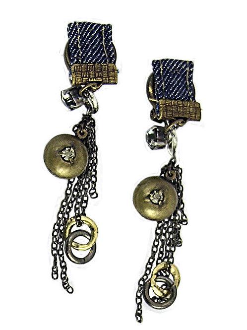 jeans and metal earrings