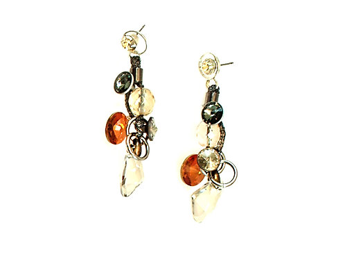 Multi-Colored Crystals Earrings