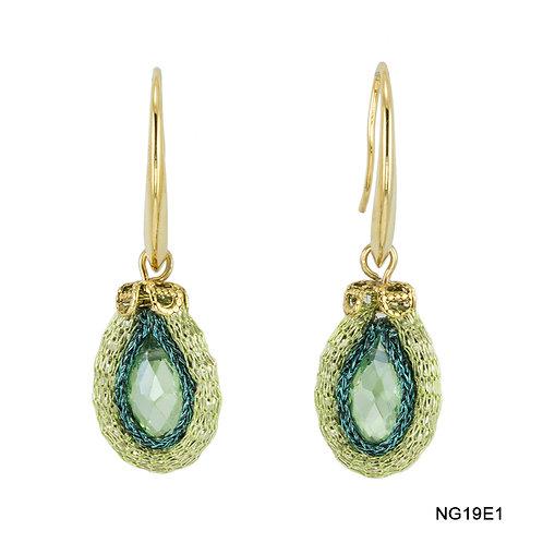 Green Swarovski crystals earrings