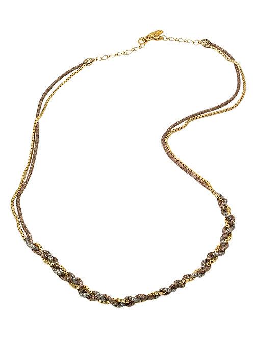 Brown & bronze Necklace