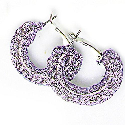 half circle sterling silver earrings