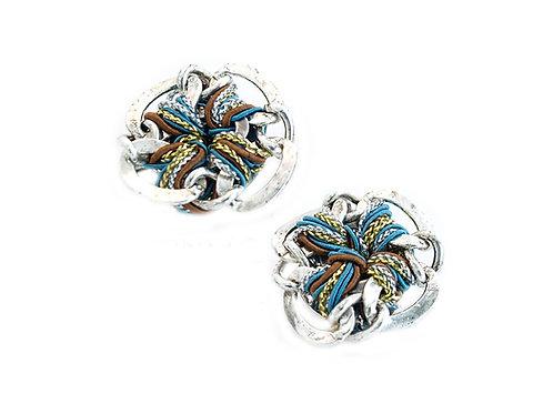 Blue & Brown Knots Earrings