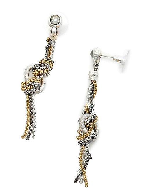 mix metal chain earrings